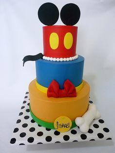 Mickey, Donald, Pluto Inspired Cake