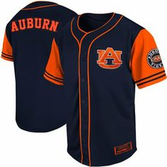 963635fb682 Auburn Tigers Rally Baseball Jersey - Navy Blue Baseball Live