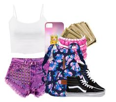 """Untitled #654"" by kaja-bear ❤ liked on Polyvore featuring Vans, Ashley Stewart and Victoria's Secret"