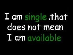 Single, not available