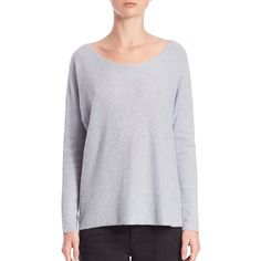 Joie Eachann Cashmere Sweater (170 AUD) ❤ liked on Polyvore featuring tops, sweaters, apparel & accessories, heather daydream, cashmere pullover sweater, long sleeve sweaters, long sleeve pullover, joie tops and wool cashmere sweater
