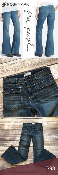 """NWT Free People Boot Cut Jeans Brand new with Tags free People Boot Cut Jeans. Size 26. Front rise 10""""/ back rise 12""""/ inseam 33"""". Made of cotton/ poly/ spandex blend Free People Jeans Boot Cut"""