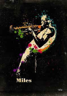 """Miles Davis    """"Don't play what's there; play what's not there.""""     http://portraitsbyigor.com/"""