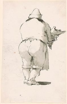 Giovanni Battista Tiepolo | Caricature of a Cook | Drawings Online | The Morgan Library & Museum