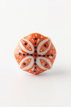 Knobs from Anthropologie for the blue chest in the master bedroom.