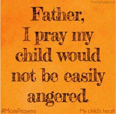 Pray over anger
