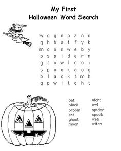 Great resources of Halloween activities for kids. Includes Halloween free coloring pages, Halloween words search and Halloween counting practice. Halloween day has arrived. It's time to have fun with our children with this Halloween activities. Halloween Puzzles, Halloween Crossword Puzzles, Halloween Word Search, Halloween Worksheets, Halloween Words, My First Halloween, Halloween Activities For Kids, Halloween Coloring, Activities For Kids