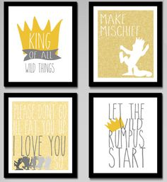 Where the Wild Things Are  Make Mischief / by EdmondsonbyDesign, $30.00