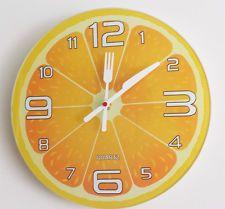 RELOJ PARED COCINA FANTASÍA NARANJA DECORACIÓN Diy Clock, Clock Decor, Clocks Inspiration, Wall Watch, Cool Clocks, Color Magic, Wooden Clock, Shabby Chic Kitchen, Paper Clay