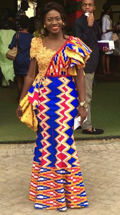 African print dresses for graduation can come in all designs. The kente styles, ankara styles, African print jumpsuits, even a well designed kaba and slit. African Fashion Ankara, Latest African Fashion Dresses, African Print Fashion, Africa Fashion, Fashion Prints, African Lace Dresses, African Dresses For Women, African Attire, African Wear Designs