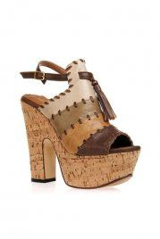 Color Contrast Brown Tassels Sandals