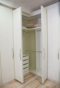 guarda roupa de canto casal apartamento pequeno - Pesquisa Google