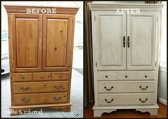 Armoire- similar style to ours but I don't know if or what color I want to paint it