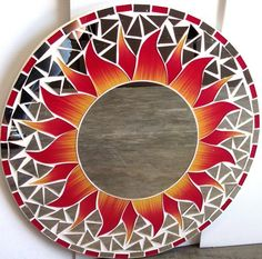 mosaic mirror sun - Google Search                                                                                                                                                                                 More