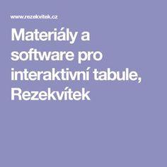 Materiály a software pro interaktivní tabule, Rezekvítek Software
