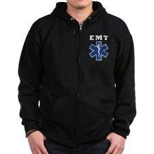 EMT Blue Star Of Life* Zip Hoodie for