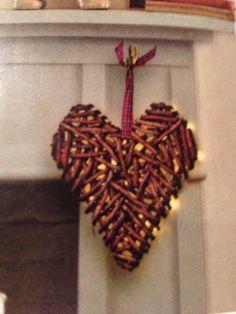 Wooden lit heart