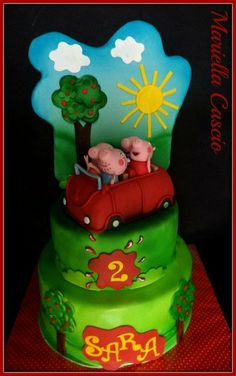 peppa pig cake Cake by Mariella Cascio