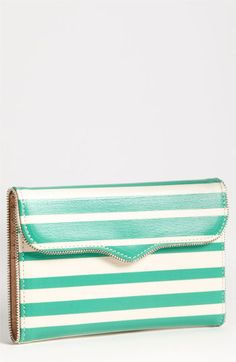 Rebecca Minkoff Purse // Turquoise Stripes