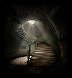 Image result for creepy spiral staircase