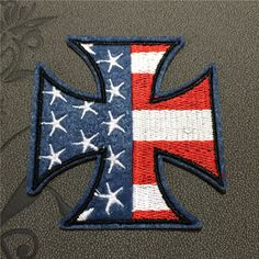USA Cross patches iron on patches Sew on patches