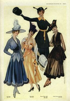 oldrags:    Dresses, 1916 US, the Delineator