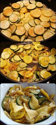 Summer Squash with Noodles