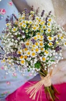 Wildflower wedding bouquet - Hottest 7 Spring Wedding Flowers to Rock Your Big Daywe love this daisies and purple bridal bouquet, bridesmiad bouquet, soft yellow and lilac wedding colors, perfect for spring weddings, Lilac Wedding Colors, Spring Wedding Flowers, Flower Bouquet Wedding, Fall Wedding, Rustic Wedding, Spring Weddings, Trendy Wedding, Wedding Blue, Wedding Ideas