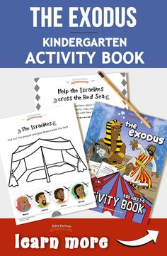 The Exodus activity book for kids Bible Resources, Bible Activities, Kindergarten Activities, Preschool, Activity Books, Bible Stories For Kids, Bible Crafts For Kids, Bible Study For Kids, Printable Coloring