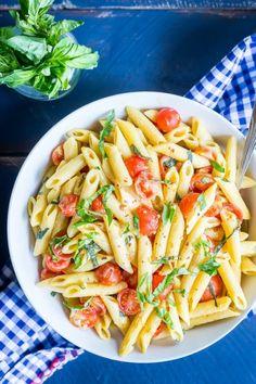 tinykitchenvegan:  One-Pot Creamy Vegan Caprese Pasta  Follow Us...