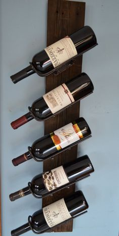Barn Wood Wine Rack by WineStaveCrafts on Etsy