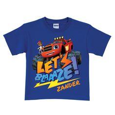 Blaze and the Monster Machines Blaze Royal Blue T-Shirt   Tv's Toy Box