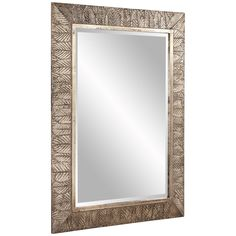 Howard Elliott Elrond Silver Leaf Mirror 37152