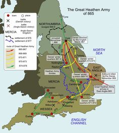 The Anglo-Saxons ruled England for 600 years, The Vikings only manged to stay on shore for 30 years at a time before the Saxons kicked them out. Guess they weren't as tough as people tend to believe. Uk History, European History, British History, History Facts, World History, Ancient History, Family History, Asian History, Strange History