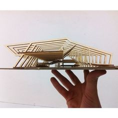 Roof concept is great. I need a bit more exploration on the concept of the roof for my pavilion design. sen ne güzel şeysin öyle :D Concept Models Architecture, Architecture Model Making, Pavilion Architecture, Wood Architecture, Architecture Drawings, Origami Architecture, Parametric Architecture, Architecture Awards, Sustainable Architecture