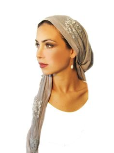 Snoods Tichel Hair Snood Head Scarf Chemo Head by ShariRoseShop, $26.99