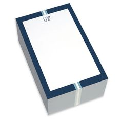 Blue Elegant Ribbon Chunky Notepads
