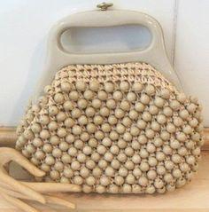 Vintage Beaded Raffia Handbag by Marcus by MISSVINTAGE5000 on Etsy