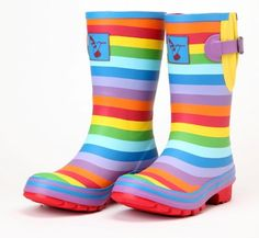 Dámské holínky gumáky Evercreatures Rainbow Short