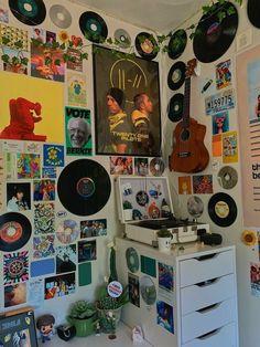 Indie Room Decor, Cute Room Decor, Indie Bedroom, Aesthetic Room Decor, Aesthetic Indie, Aesthetic Vintage, Retro Room, Vintage Room, Vintage Diy