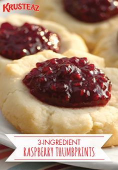 Share some sweetness with your sweeties this Valentine's Day with this 3-ingredient Raspberry Thumbprint Cookie recipe. This easy, classic, and unbeatable dessert idea is the perfect Valentine's Day cookie to share as an edible gift to give your loved ones this February. Plus, it can easily be customized with your favorite jam or berry!