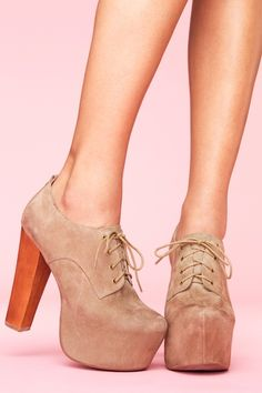 Suede Platforms..*Lovestruck* If I could stand up, not sure I could walk without falling off! But they're so pretty....