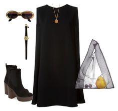 """""""blacksuit"""" by intania-626 on Polyvore featuring McQ by Alexander McQueen, Topshop, Gucci, Bee Charming and AZUMI AND DAVID"""