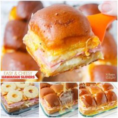 Our favorite recipe for Hawaiian Sliders - rich, cheesy, and easy to make! The perfect game day party appetizer! Plus tips for throwing a fabulous super bowl party on a budget! (ad) Day Fix Recipes Budget) Best Party Appetizers, Easy Party Food, Snacks Für Party, Appetizer Recipes, Luau Appetizers, Dinner Recipes, Food For Luau Party, Budget Party Food, Hawaiin Party Food