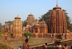 Visited Bhubaneswar/Konarak/Puri in December 2013. U see Muktesvara Mandir against the rising sun. Pond that you see in front is considered holy where devotees have a dip. This pic gives you a good overview of the temple. ``Outer wall of temples built in 966 a.d. The spire is covered with intricate geometrical and floral designs with strange iconography``.