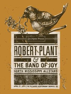 Robert Plant and The Band of Joy in Denver, CO gig poster.