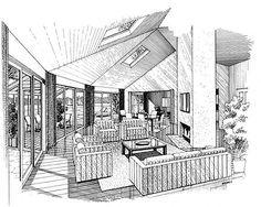 Passive Solar Interior Sketch