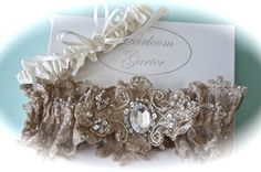 Bride Garter Set Wedding Garter Heirloom in by GarterLady on Etsy, $85.00