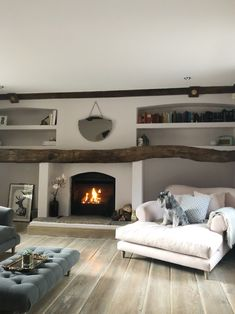 Giveaway How do you fancy cosying up next to a log burner in a grade 2 listed cottage nestled in the Peak District? You can win a 2 night Cottage Living Rooms, Cottage Interiors, My Living Room, Home And Living, Living Room Decor, Cottage Lounge, Living Area, Country Lounge, Snug Room