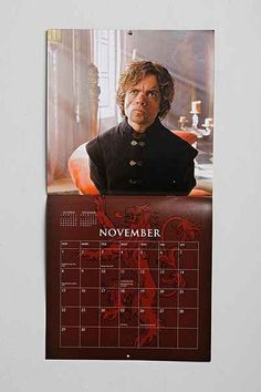 Game Of Thrones 2015 Calendar - Urban Outfitters (I need this for Christmas!)